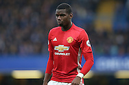 Paul Pogba of Manchester United looking on. Premier league match, Chelsea v Manchester Utd at Stamford Bridge in London on Sunday 23rd October 2016.<br /> pic by John Patrick Fletcher, Andrew Orchard sports photography.