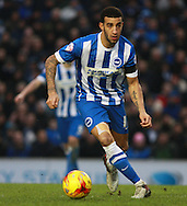 Brighton defender Connor Goldson during the Sky Bet Championship match between Brighton and Hove Albion and Bolton Wanderers at the American Express Community Stadium, Brighton and Hove, England on 13 February 2016. Photo by Bennett Dean.