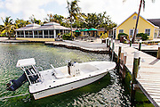 View of the Green Turtle Club at Green Turtle Cay, Bahamas.