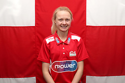 Team England's Gemma Bridge poses for a photo during the kitting out session at Kukri Sports HQ, Preston.
