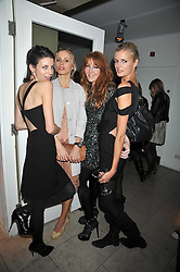 Left to right, LIBERTY ROSS, LAURA BAILEY, CHARLOTTE TILBURY and JACQUETTA WHEELER at the MAC Salutes party paying tribute to renowned makeup artists held at The Hosptal, Endell Street, London on 22nd February 2009.