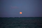 Full moon rise, Hawaii