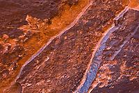 Desert varnish on sandstone walls of Neon Canyon, Grand Staircase Escalante National Monument Utah