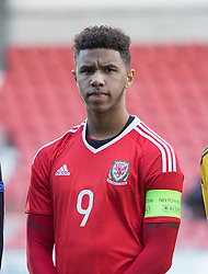 WREXHAM, WALES - Thursday, November 10, 2016: Wales' Tyler Roberts before kick off against Greece during the UEFA European Under-19 Championship Qualifying Round Group 6 match at the Racecourse Ground. (Pic by Gavin Trafford/Propaganda)