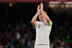 England's Harry Kane celebrates the victory during UEFA Nations League 2019 match between Spain and England at Benito Villamarin stadium in Sevilla, Spain. October 15, 2018. Photo by A. Perez Meca/Alterphotos/ABACAPRESS.COM