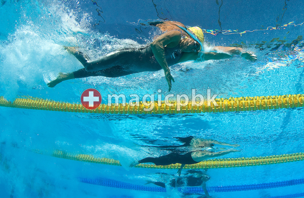 Matthew TARGETT (Top) of Australia competes in the men's 100m freestyle preliminary at the 13th FINA World Championships at the Foro Italico complex in Rome, Italy, Wednesday, July 29, 2009. (Photo by Patrick B. Kraemer / MAGICPBK)