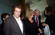 Tom Parker Bowles,  Camilla Parker Bowles and Bruce Shand, Tom Parker Bowles, Susan Hill and Matthew Rice host party to launch 'E is For Eating' Kensington Place. 3 November 2004.  ONE TIME USE ONLY - DO NOT ARCHIVE  © Copyright Photograph by Dafydd Jones 66 Stockwell Park Rd. London SW9 0DA Tel 020 7733 0108 www.dafjones.com