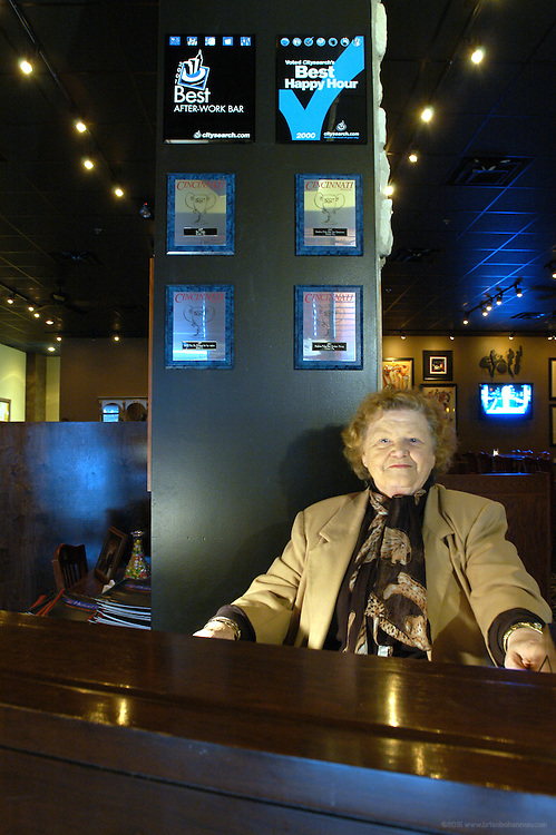 Michael G's, Cincinnati, Ohio: Mary Guilfoyle, Michael G's mother, greets guests to the restaurant.