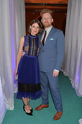JESSICA RAINE and TOM GOODMAN-HILL at the V&A Summer Party in association with Harrod's held at The V&A Museum, London on 22nd June 2016.