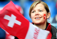 GEPA-0706086023 - BASEL,SCHWEIZ,07.JUN.08 - FUSSBALL - UEFA Europameisterschaft, EURO 2008, Schweiz vs Tschechien, SUI vs CZE. Bild zeigt einen Fan der Schweiz.<br />Foto: GEPA pictures/ Philipp Schalber