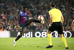 October 20, 2018 - Barcelona, Catalonia, Spain - Ousmane Dembele during the match between FC Barcelona and Sevilla CF, corresponding to the week 9 of the Liga Santander, played at the Camp Nou, on 20th October 2018, in Barcelona, Spain. (Credit Image: © Joan Valls/NurPhoto via ZUMA Press)