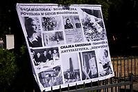 Bialystok, 16.08.2020. Obchody w 77. rocznice wybuchu Powstania w Getcie Bialostockim przy Pomniku Bohaterow Getta fot Michal Kosc / AGENCJA WSCHOD
