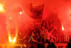 October 18, 2016 - Lisbon, Portugal - Dortmund's supporters during the UEFA Champions League Group F football match Sporting CP vs Borussia Dortmund at the Alvalade stadium in Lisbon, Portugal on October 18, 2016. Photo: Pedro Fiuza (Credit Image: © Pedro Fiuza via ZUMA Wire)