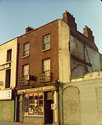Old Dublin Amature Photos December 1983 WITH, Ellis Quay, Sarsfield Quay, Queen St, Old Ware House, M. O'Dwyer, shop,