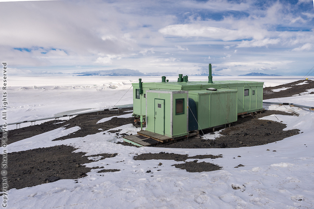 A Hut, also known at the TAE (Trans-Antarctic Expedition) Hut, is located on Pram Point at New Zealand's Scott Base. It was the first station building built in 1957 at Scott Base, established to support the TAE, and the IGY (International Geophysical Year) of 1957/1958. It was originally intended as a short term base, after which it was to be dismantled, but as the scientific potential of Antarctica was realized the Government decided to continue with Antarctic research indefinitely.