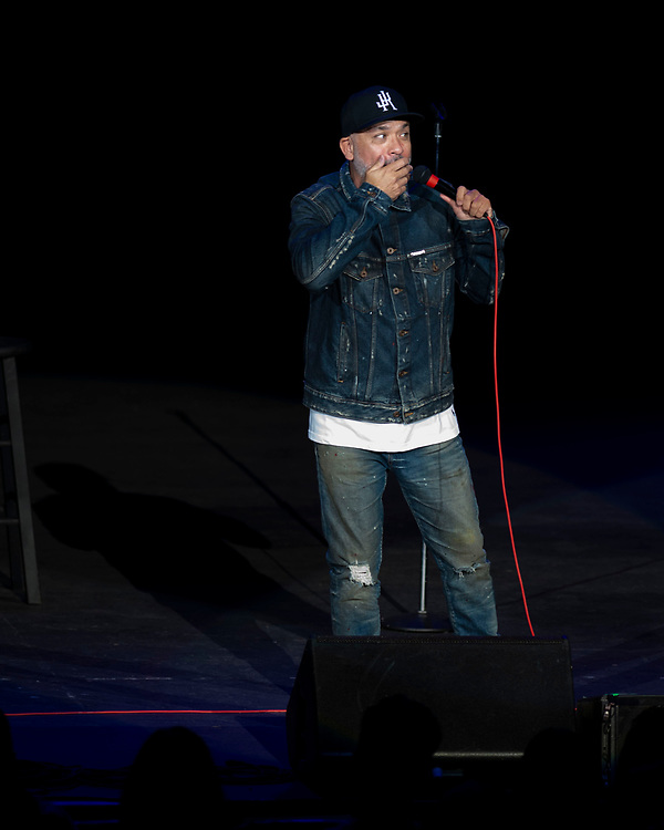 Jo Koy performing at Pacific Amphitheatre August 15, 2021. (Photo by Miguel Vasconcellos, OC Fair & Event Center)