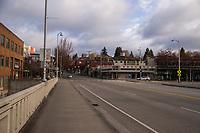 Fourth Avenue / Fremont Bridge (April 3, 2020).