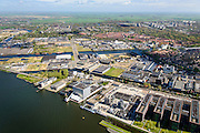 Nederland, Noord-Holland, Amsterdam, 09-04-2014; Amsterdam-Noord, Buiksloterham.<br /> Developement of former industrial area and docklands.<br /> luchtfoto (toeslag op standard tarieven);<br /> aerial photo (additional fee required);<br /> copyright foto/photo Siebe Swart