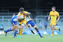 Pablo Matera of the Jaguares during the Super Rugby match between DHL Stormers and Jaguares held at DHL Newlands in Cape Town, South Africa on the 4th March 2017.<br /> <br /> Photo by Ron Gaunt/Villar Press