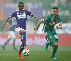 15.04.2018, Ernst Happel Stadion, Wien, AUT, 1. FBL, FK Austria Wien vs SK Rapid Wien, 30. Runde, im Bild Felipe Augusto Rodrigues Pires (FK Austria Wien) und Dejan Ljubicic (SK Rapid Wien) // during Austrian Football Bundesliga Match, 30th Round, between FK Austria Vienna and SK Rapid Wien at the Ernst Happel Stadion, Vienna, Austria on 2018/04/15. EXPA Pictures © 2018, PhotoCredit: EXPA/ Thomas Haumer
