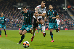 January 6, 2018 - Fulham, England, United Kingdom - Fulham defender Ryan Fredericks tries to get through Southampton's Pierre-Emile Hjbjerg  during the FA Cup 3rd Round match between Fulham against Southampton  at Craven Cottage Stadium, London England on 06 Jan 2018. (Credit Image: © Kieran Galvin/NurPhoto via ZUMA Press)