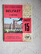 Discoverer series 1:50,000 ordnance survey map of Belfast, Northern Ireland sheet 15