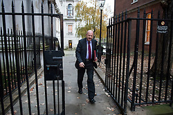 © Licensed to London News Pictures. 23/11/2016. London, UK. Work and Pensions secretary DAMIAN GREEN arrives on Downing Street in London for a cabinet meeting before Chancellor Philip Hammond delivers his first Autumn statement to parliament. Photo credit: Ben Cawthra/LNP