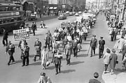 03/07/1963<br /> 07/03/1963<br /> 03 July 1963<br /> RGDATA Turnover Tax Protest March in Dublin. Picture shows Orderly lines of RGDATA delegates who marched through Dublin to Government Buildings to present their protest to against the proposed Turnover Tax to the Minister for Finance marching down Westmoreland Street.