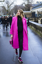 March 4, 2018 - Paris, France - Veronika Heilbrunner is seen during Paris Fashion Week Womenswear Fall/Winter 2018/2019, on March 4, 2018 in Paris, France. (Credit Image: © Nataliya Petrova/NurPhoto via ZUMA Press)