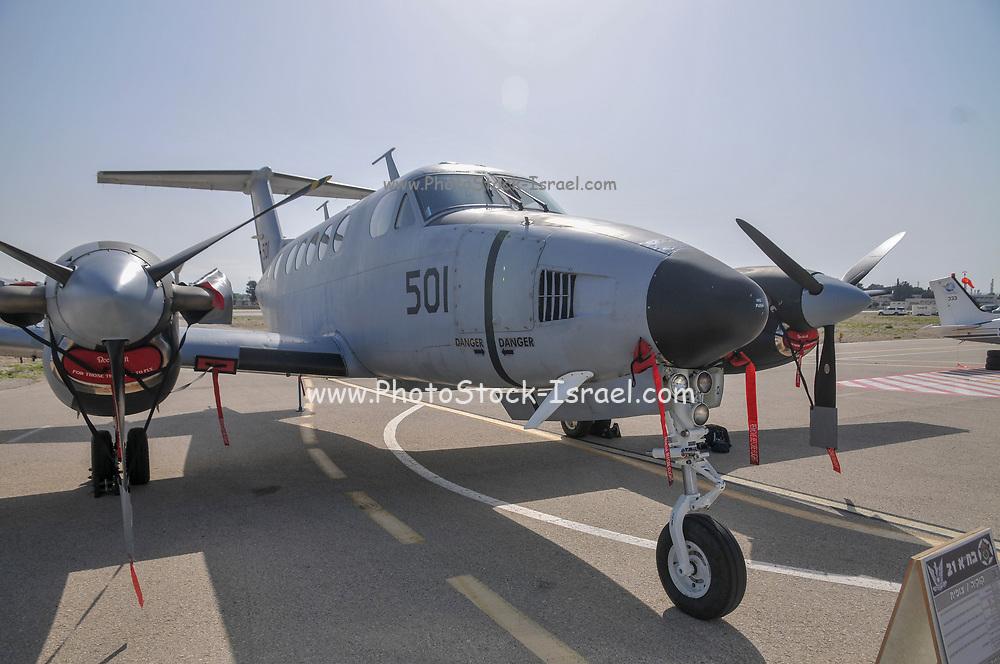 An Israeli Air force (IAF) Beechcraft King Air twin-turboprop aircraft