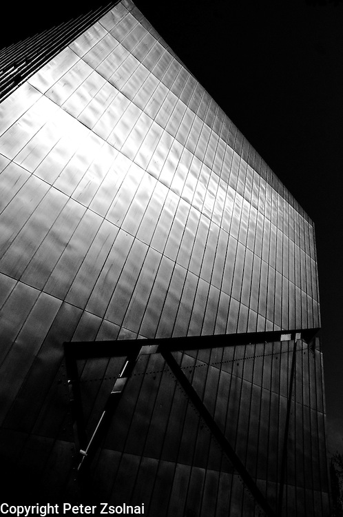 Exterior wall of the Jewish Museum in Berlin, Germany