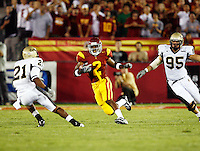 1 September 2007: Tailback #2 C.J. Gable in action during the USC Trojans college football team defeated the Idaho Vandals 38-10 at the Los Angeles Memorial Coliseum in CA.  NCAA Pac-10 #1 ranked team first game of the season.