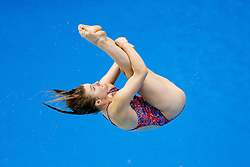 Hannah Starling of Great Britain in action in the Womens 1m Springboard Final - Photo mandatory by-line: Rogan Thomson/JMP - 07966 386802 - 20/08/2014 - SPORT - DIVING - Berlin, Germany - SSE im Europa-Sportpark - 32nd LEN European Swimming Championships 2014 - Day 8.