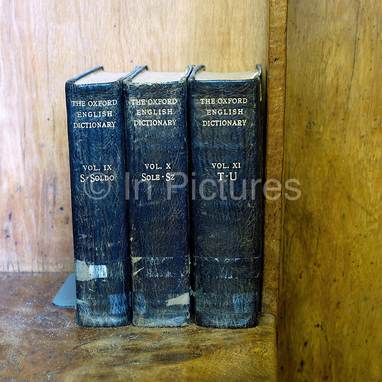 Three battered Oxford English dictionaries in the school library at Ampleforth College, North Yorkshire, UK. Ampleforth College is a coeducational independent day and boarding school in the village of Ampleforth, North Yorkshire, England. It opened in 1802 as a boys' school, and is run by the Benedictine monks and lay staff of Ampleforth Abbey.