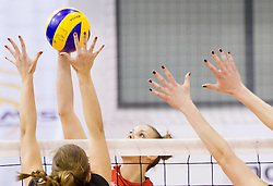 Sasa Planinsec of Nova KBM Branik during match between OK Nova KBM Branik and OK Calcit Volleyball in Finals of Slovenian Women Volleyball Cup 2013/14 on December 27, 2013 in Hoce, Slovenia.  Calcit Volleyball won 3-1 and became Slovenian Cup Champion 2013/14. Photo by Vid Ponikvar / Sportida