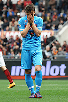 Manolo Gabbiadini Napoli Delusione Dejection <br /> Roma 04-04-2015 Stadio Olimpico, Football Calcio Serie A AS Roma - Napoli Foto Andrea Staccioli / Insidefoto