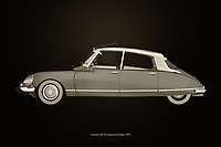 The Citroën DS-23 Injection Pallas certainly has its own idiosyncratic and progressive design. With the Citroën DS-23 Injection Pallas, Citroën has introduced so many innovations that have changed the automotive world dramatically. –<br /> <br /> BUY THIS PRINT AT<br /> <br /> FINE ART AMERICA<br /> ENGLISH<br /> https://janke.pixels.com/featured/citroen-ds-23-injection-pallas-black-and-white-jan-keteleer.html<br /> <br /> WADM / OH MY PRINTS<br /> DUTCH / FRENCH / GERMAN<br /> https://www.werkaandemuur.nl/nl/shopwerk/Citroen-DS-23-Injectie-Pallas/742787/132?mediumId=11&size=75x50<br /> <br /> -