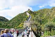 China, visitors at the Great Wall