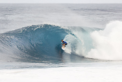 December 8, 2017 - Oahu, Hawaii, U.S. - DUSTY PAYNE of Hawaii advances to the Quarter Finals of the Pipe Invitational after winning Round One of Heat 2 at Pipe, Oahu. (Credit Image: © WSL via ZUMA Wire/ZUMAPRESS.com)
