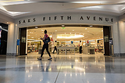 Saks Fifth Avenue store inside Burjuman shopping mall in Dubai United Arab Emirates
