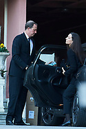 Bruno Gomez-Acebo, Matilde Cano attends Princess PIlar Borbon funeral chapel  installed in the Gomez-Acebo house on January 8, 2020 in Madrid, Spain