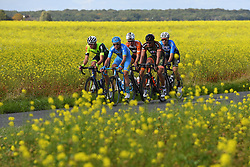October 8, 2017 - Tours, France - TOURS, FRANCE - OCTOBER 8 : GOOLAERTS Michael (BEL) Rider of Veranda's Willems - Crelan, POULHIES Stephane of Armee de Terre, NAESEN Lawrence (BEL) Rider of WB Veranclassic AquaProtect, VAN GOETHEM Brian (NED) Rider of Roompot - Nederlandse Loterij, COMBAUD Romain (FRA) Rider of Delco Marseille Provence KTM during the 111th edition of the Paris-Tours cycling race with start in Brou and finish in Tours on October 08, 2017 in Tours, France, 8/10/2017 (Credit Image: © Panoramic via ZUMA Press)