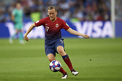 June 27, 2019 - Le Havre, France - Kristine Minde (Vfl Wolfsburg) of Norway controls the ball during the 2019 FIFA Women's World Cup France Quarter Final match between Norway and England at  on June 27, 2019 in Le Havre, France. (Credit Image: © Jose Breton/NurPhoto via ZUMA Press)