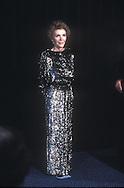 .Nancy Reagan in formal gown in March  1987..Photograph by Dennis Brack BS B14