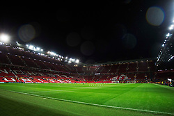 General view of Old Trafford before the match - Mandatory by-line: Jack Phillips/JMP - 07/11/2019 - FOOTBALL - Old Trafford - Manchester, England - Manchester United v Partizan - UEFA Europa League