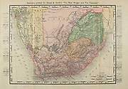 Map of Southern Africa and the Republic of South Africa From the Book ' The real Kruger and the Transvaal ' Bunce, Charles T; McKenzie, Frederick Arthur, 1869-1931; Du Plessis, C. N. J . Published by Street & Smith, New York, 1900