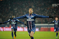 FOOTBALL - FRENCH CHAMPIONSHIP 2012/2013 - L1 - PARIS SAINT GERMAIN v OLYMPIQUE MARSEILLE - 24/02/2013 - PHOTO JEAN MARIE HERVIO / REGAMEDIA / DPPI - JOY LUCAS MOURA (PSG) AFTER HIS GOAL
