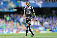Riyad Mahrez of Leicester City looks on. Barclays Premier league match, Chelsea v Leicester city at Stamford Bridge in London on Sunday 15th May 2016.<br /> pic by John Patrick Fletcher, Andrew Orchard sports photography.
