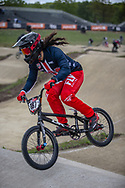 #187 (GARCIA Jared) USA during practice at Round 3 of the 2019 UCI BMX Supercross World Cup in Papendal, The Netherlands