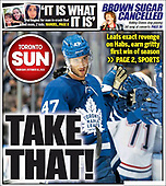 October 14, 2021 - CANADA: Front-page: Today's Newspapers In Canada